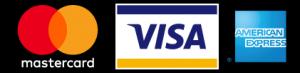 We accept Visa, Mastercard, and American Express